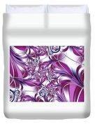 Fractal Pink Plant Duvet Cover