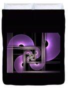 Fractal Purple Semicircles Duvet Cover