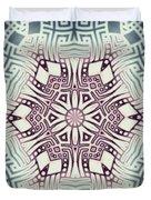 Fractal Snowflake Pattern 1 Duvet Cover