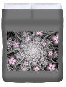 Fractal Soft Flowers Duvet Cover