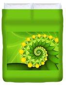 Fractal Sweet Yellow Fruits Duvet Cover