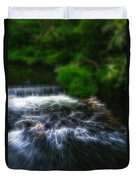 Fractalius - River Wye Waterfall - In Peak District - England Duvet Cover