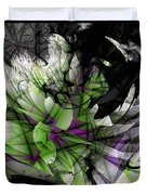 Fractured Bloom  Duvet Cover