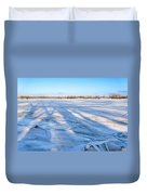 Fractured Ice On The River Duvet Cover