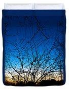 Fractured Sunset Duvet Cover