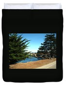 Framed By Cypress Trees Duvet Cover