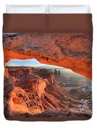 Framed By Mesa Arch Duvet Cover