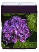Framed Purple Blue Hydrangea Blossom Duvet Cover