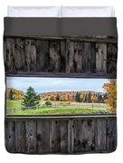 Framed-autumn In Vermont Duvet Cover