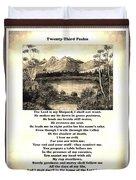 Framed Vintage 23rd Psalm Sepia Duvet Cover