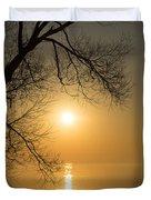 Framing The Golden Sun Duvet Cover