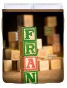 Fran - Alphabet Blocks Duvet Cover