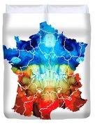 France - European Map By Sharon Cummings Duvet Cover