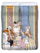 France In The 18th Century Duvet Cover by Georges Barbier