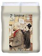France Paris Poster Of Paul Verlaine And Jean Moreas Duvet Cover