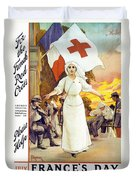 France's Day Duvet Cover by Anonymous