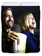 Frances Mcdormand And George Clooney @ Burn After Reading Duvet Cover