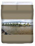 Francis Scott Key Bridge - Pano Duvet Cover