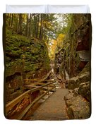 Franconia Notch Flume Gorge Boardwalk Duvet Cover