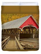 Franconia Notch Flume Gorge Bridge Duvet Cover