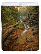 Franconia Notch Lush Greens And Rushing Waters Duvet Cover