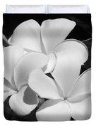 Frangipani In Black And White Duvet Cover