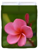 Frangipani With Dew Drops Duvet Cover