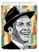 Frank Sinatra Pop Art Duvet Cover