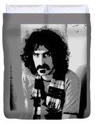 Frank Zappa - Chalk And Charcoal 2 Duvet Cover by Joann Vitali