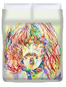 Frank Zappa Watercolor Portrait.1 Duvet Cover