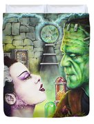 Frankenstein And The Bride Duvet Cover