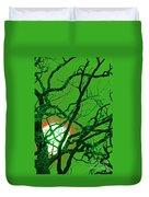 Frankenstein Moon Duvet Cover by First Star Art