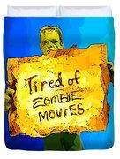Frankenstein's Monster Turns Activist Duvet Cover by John Malone