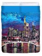 Frankfurt Main Germany - Mainhattan Skyline Duvet Cover