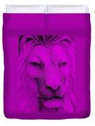 Frankie Lion Purple Duvet Cover