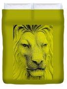 Frankie Lion Yellow Duvet Cover