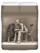 Franklin Delano Roosevelt Memorial - Bits And Pieces 5 Duvet Cover by Mike McGlothlen