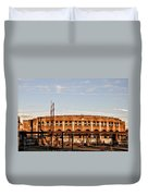 Franklin Field In The Morning Duvet Cover