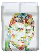 Franz Kafka Watercolor Portrait.2 Duvet Cover
