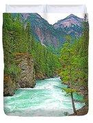 Fraser River Beyond Overlander Falls Along Yellowhead Highway-bc Duvet Cover