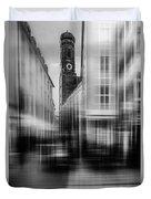 Frauenkirche - Muenchen V - Bw Duvet Cover