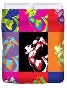 Freddie Mercury Pop Art Duvet Cover