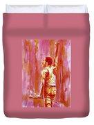 Freddie Mercury Singing Portrait.3 Duvet Cover