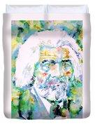 Frederick Douglass - Watercolor Portrait Duvet Cover