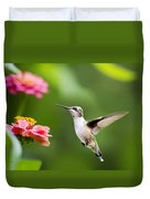 Free As A Bird Hummingbird Duvet Cover