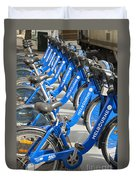 Free Bicycle System In Melbourne Australia Duvet Cover