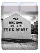 Free Derry Corner 9 Duvet Cover