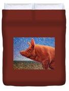 Free Range Pig Duvet Cover