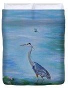 Free Spirit Blue Heron Duvet Cover