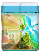 Free Spirit Dreamscape - Within Border Duvet Cover